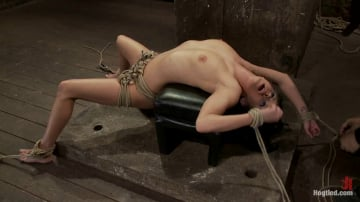 Tessa Taylor - Sexy girl next door is bound and suspended, stretched to the limits of the human body So helpless!