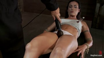 Wenona - Extreme Predicament Bondage Huge Nipples Tied to Toes, How Long Can the Abs Hold Out