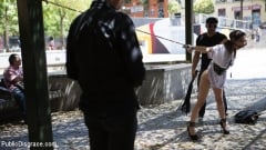 Zenda Sexy - Public Shame Slut Zenda Sexy Disgraced, Tickled, and Fucked by a Crowd (Thumb 03)