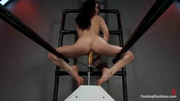 Aiden Ashley - Hell Fire Riding a Fucking Machine: The Girl Fucks Like a MadMan