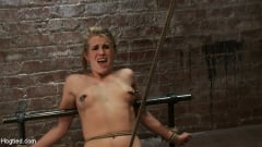 Aiden Aspen - Tiny Southern Belle pushed to her limits, back arched, made to cum hard Cruelest crotch rope ever (Thumb 04)
