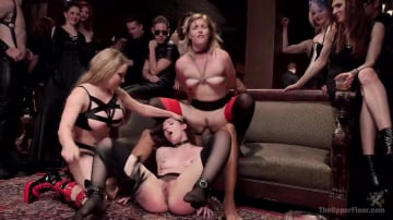 Aiden Starr - Anal Slut Slaves Serve a BDSM Swingers Orgy