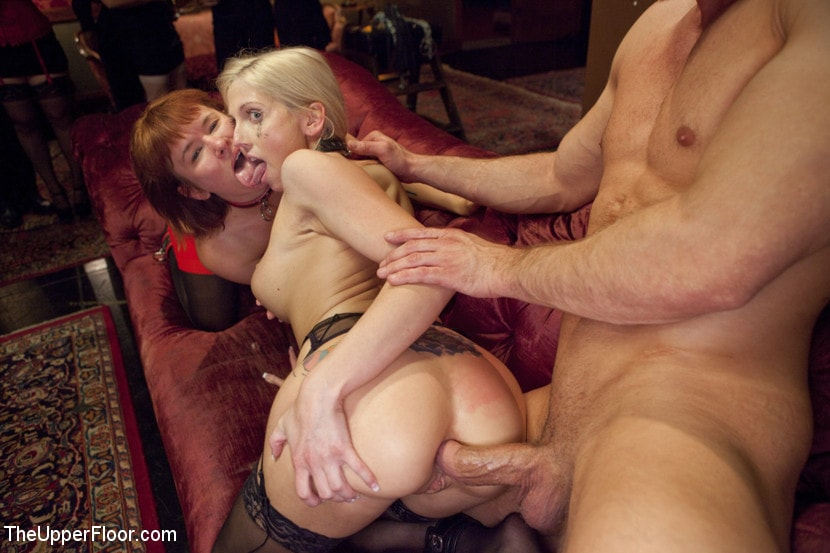 Kink 'Ass Eating Slap Fight Anal Foursome' starring Aiden Starr (photo 4)