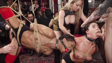 Aiden Starr - Nympho Slave Slut Soaks The Folsom Orgy with Squirt