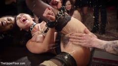 Aiden Starr - Nympho Slave Slut Soaks The Folsom Orgy with Squirt (Thumb 09)