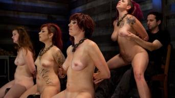 Akira Raine に '4人の女子オーディション - 第4日のフェラチオ、ファック、そして4人の女サイビアンライド'