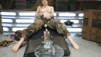 Alaina Fox in 'ATTENTION! Hottie on Deck! Our Strawberry Blond Soldier Fucks Machines'