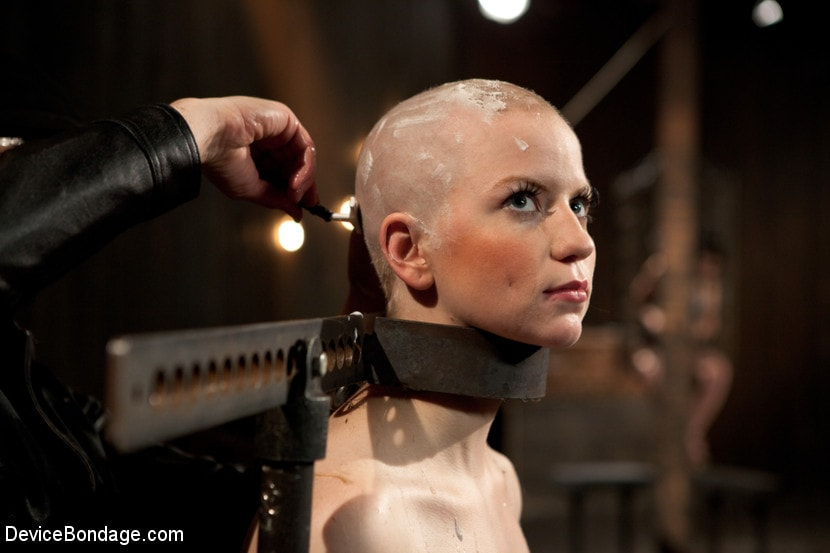 Emma gets her head shaved
