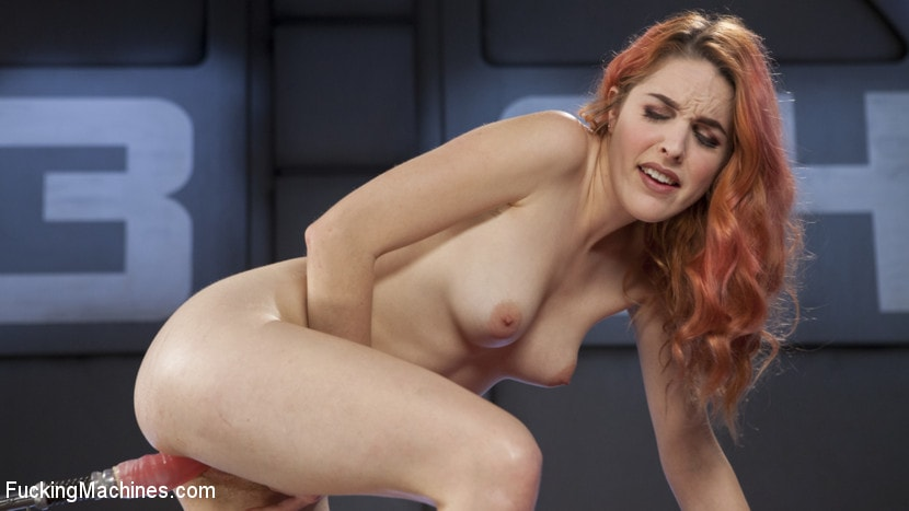 Kink 'Spanish Red Head Machined Fucked Into Uncontrollable Orgasms!!' starring Amarna Miller (Photo 14)