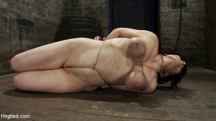 Kink 'Hot busty lifestyle MILF is severely bound with only baling twine Bondage hurts, this is brutal.' starring Annika (Photo 3)