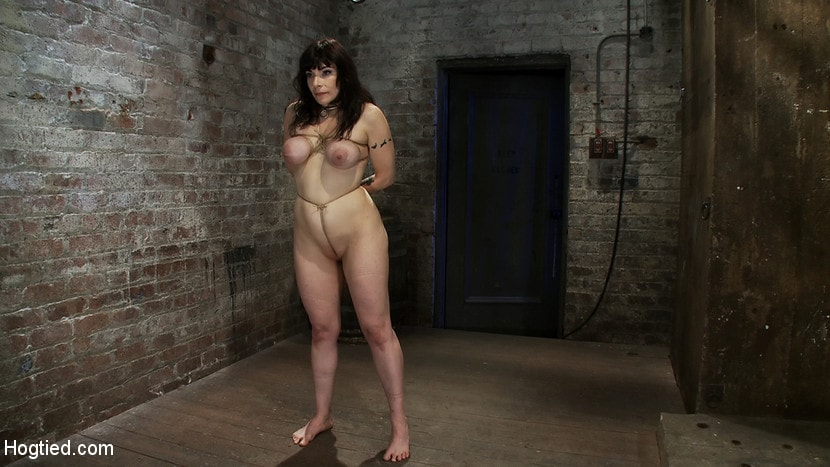 Kink 'Hot busty lifestyle MILF is severely bound with only baling twine Bondage hurts, this is brutal.' starring Annika (Photo 10)
