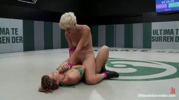 Ariel X - Chloe Camilla is destroyed and humiliated on the mat Non-Scripted brutal real wrestling.