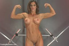 Ariel X - Muscly Weightlifter Babe Machine Fucked in Her Pussy and Ass (Thumb 13)