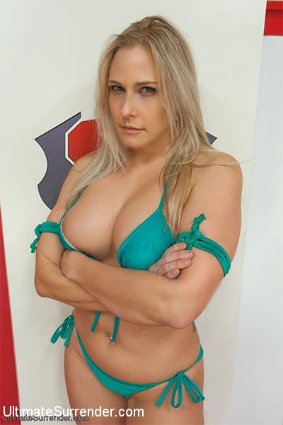 Kink 'Big Titted Blond wrestler take on Voluptuous Red Head' starring Bella Rossi (Photo 16)