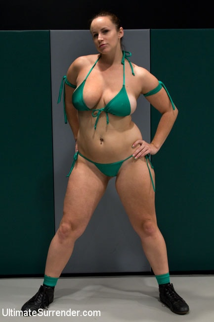 Kink 'Big Titted Blond wrestler take on Voluptuous Red Head' starring Bella Rossi (Photo 17)