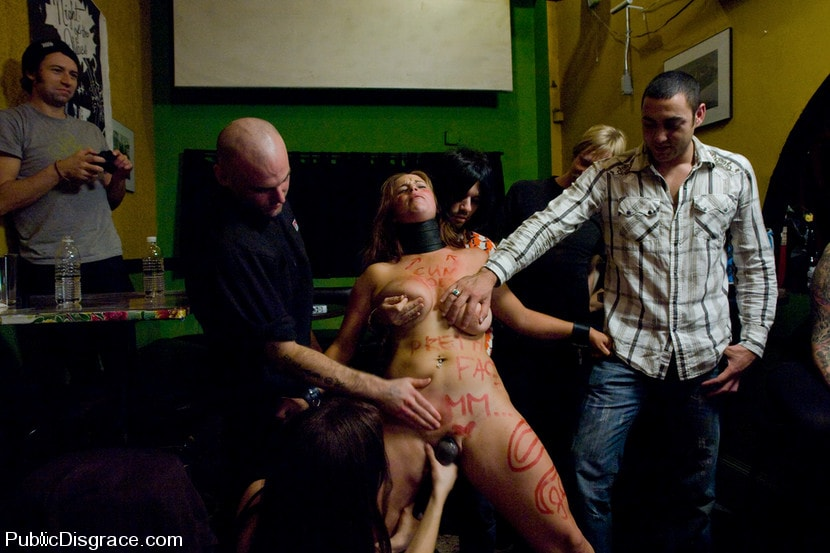 Kink 'Busty brunette fucked in front of a bar full of people!!!!' starring Bella Rossi (Photo 8)