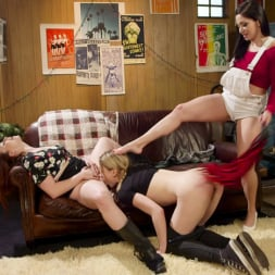 Bella Rossi in 'Kink' Double Stuffed Slut: Horny Lesbians Tag Team Pizza Delivery Girl (Thumbnail 9)