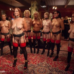 Bella Rossi in 'Kink' Masquerade Orgy with Nine Slaves,100 Horny Guests, Part One (Thumbnail 1)