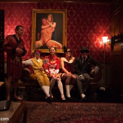 Bella Rossi in 'Kink' Masquerade Orgy with Nine Slaves,100 Horny Guests, Part Two (Thumbnail 7)