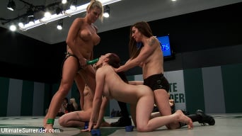 Beretta James in '5 girl squirt fest! Losers get dominated by the winners AND the ref!!!'