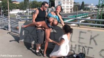 Black Yasmin in 'BEST OF EUROPE: BIG NATURAL TITS TIED IN PUBLIC!!!!'