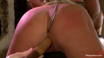 Bobbi Starr - All natural blonde beauty double penetrated for the first time in her life!