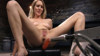 Cadence Lux in 'All Natural Blonde Babe Cadence Lux Squirts All Over Fucking Machines!'