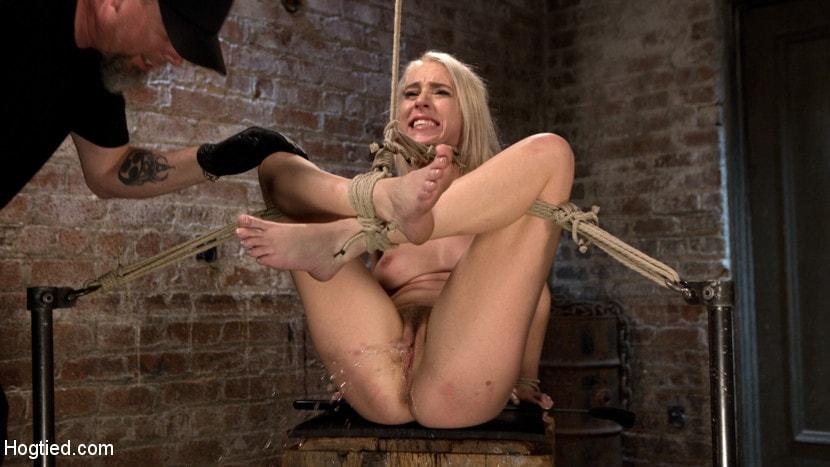 Bound gagged orgasm tickling kinky birthday