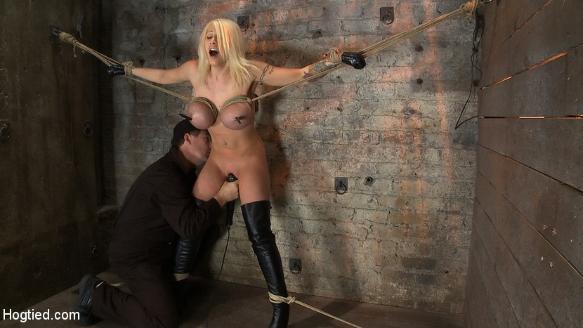 Kink 'California Blond has her massive tits severly bound We rip Orgasm after Orgasm out of her hot bod' starring Candy Manson (Photo 4)