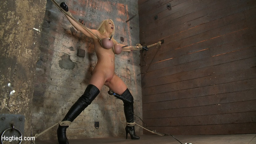 Kink 'California Blond has her massive tits severly bound We rip Orgasm after Orgasm out of her hot bod' starring Candy Manson (Photo 6)