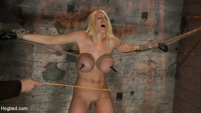 Kink 'California Blond has her massive tits severly bound We rip Orgasm after Orgasm out of her hot bod' starring Candy Manson (Photo 12)