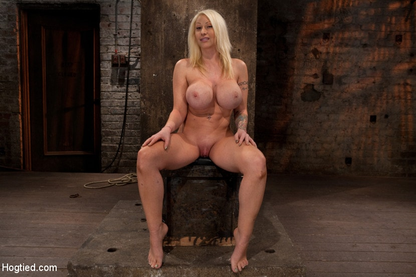 Kink 'California blond with huge tits has them bound to her knees and spread Made to squirt and scream!' starring Candy Manson (Photo 1)