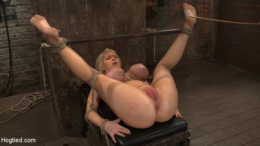 Kink 'California blond with huge tits has them bound to her knees and spread Made to squirt and scream!' starring Candy Manson (Photo 7)