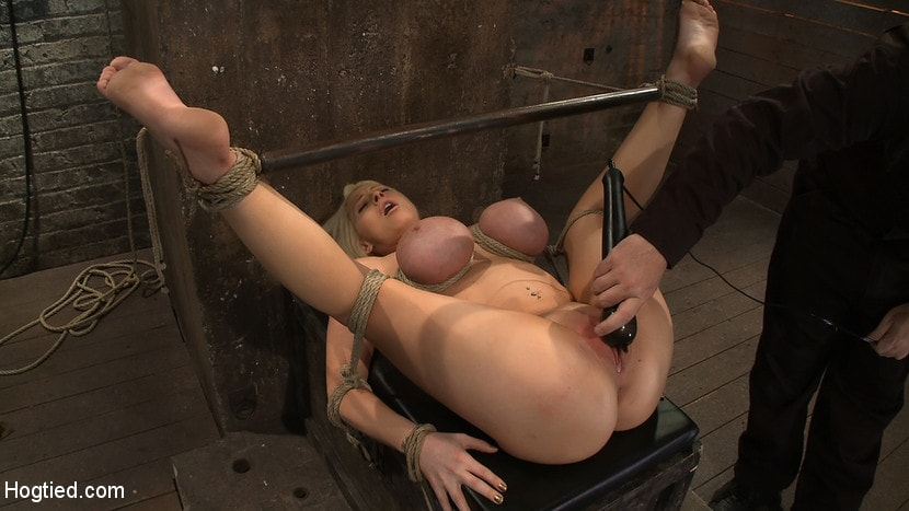Kink 'California blond with huge tits has them bound to her knees and spread Made to squirt and scream!' starring Candy Manson (Photo 13)