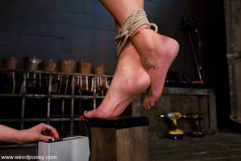 Kink 'Charlie's Natural 34 DD's get tied and shocked!' starring Charley Chase (Photo 8)