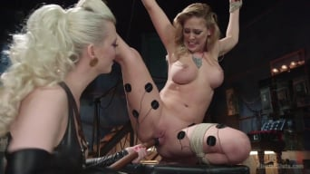 Cherry Torn in 'Hot Latex Lesbian Electro Sex: Cherry Torn vs. Cherie Deville'