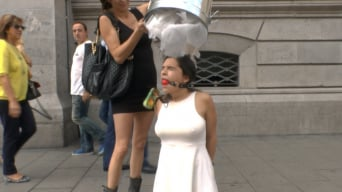 Chiara Diletto in 'Sexy Spanish Slut Chiara fully exposed on the streets of Madrid'
