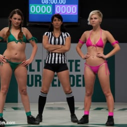 Chloe Camilla in 'Kink' Two sexy rookies battle it out to see who fucks who. Chloe is beaten and then fucked hard! (Thumbnail 2)