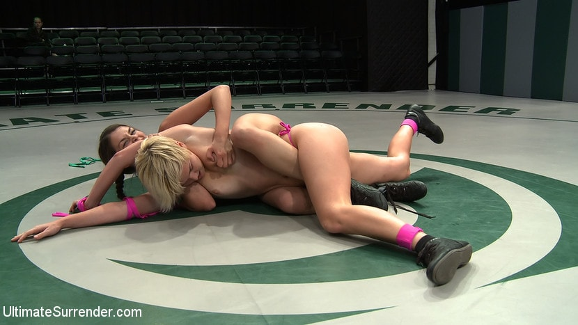 Kink 'Two sexy rookies battle it out to see who fucks who. Chloe is beaten and then fucked hard!' starring Chloe Camilla (Photo 11)