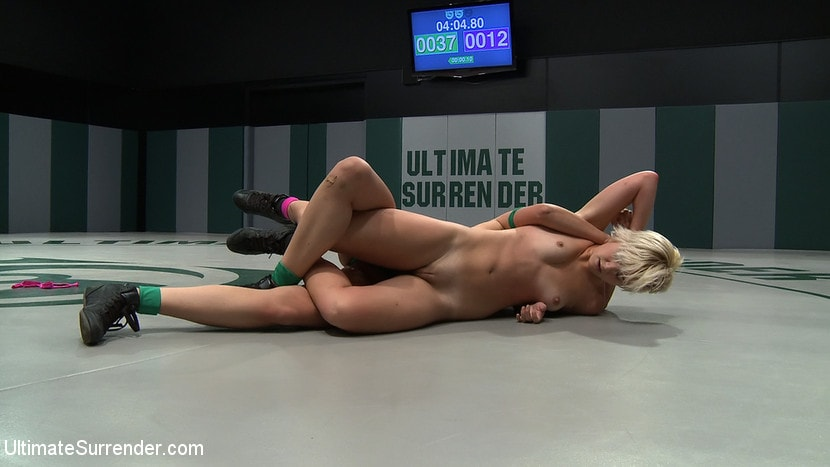 Kink 'Two sexy rookies battle it out to see who fucks who. Chloe is beaten and then fucked hard!' starring Chloe Camilla (Photo 15)