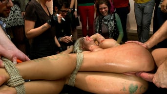 Courtney Taylor in 'Fuckable Art! Big titted blonde fucked in a crowded gallery'