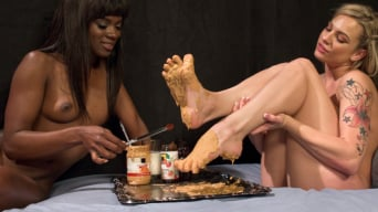 Dahlia Sky in 'Peanut Butter and Jelly Toe Sandwiches: Lesbian Foot Sploshing!!!'