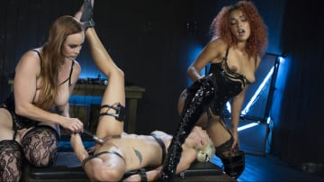 Daisy Ducati - Hot Electro Sex Toy: Lesbian Slut Bound, Shocked, and Fucked!