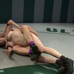 Darling in 'Kink' 2 wrestlers with HUGE tits, non-scripted wrestling Blond destroys red head fucks her like a whore (Thumbnail 13)