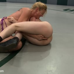 Darling in 'Kink' 2 wrestlers with HUGE tits, non-scripted wrestling Blond destroys red head fucks her like a whore (Thumbnail 16)