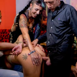 Dolly Diore in 'Kink' 19yo Vyvan Hill and Dolly Diore Stripped Naked in Public and Fucked in Bar (Thumbnail 14)