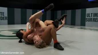 DragonLily in 'Sin makes the Dragon orgasm on the mat Still gets her ass kick and fucked Non-Scritped wrestling'