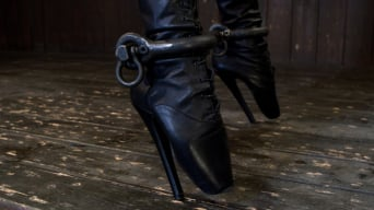Felony in 'Bound in Cruel Latex, Metal and Leather Bondage!'