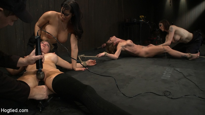 Kink 'ORGASMAGEDDON: 34 Both girls are lying in gallons of their own squirt and they are still cumming..' starring Felony (Photo 13)