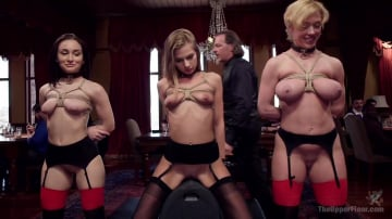 Gabriella Paltrova - Disorderly House Slaves Disciplined with Chains and Anal